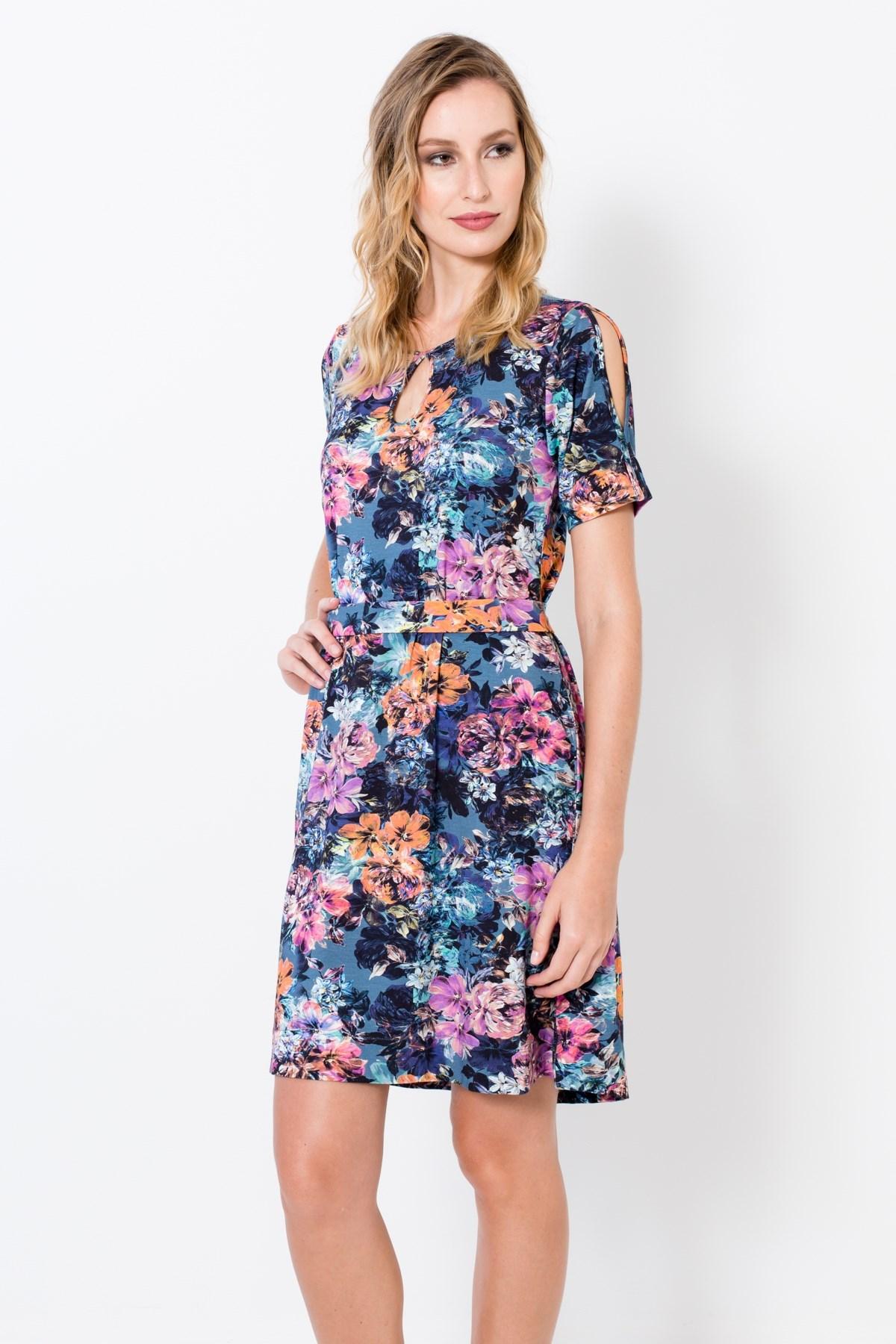 85899f3ba Vestido Aquarela Floral - Ervadoce