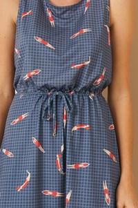 Vestido Com Canaleta Jersey Midi Nadadoras