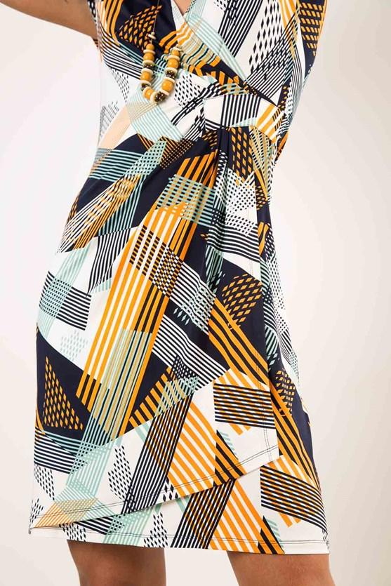 Vestido Manga Curta Cachecoeur Jersey Simetria
