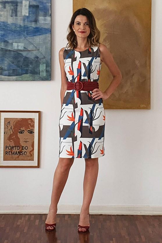 Vestidos Decote U Piquet Encontros